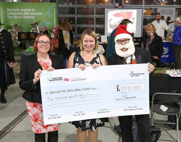 The Darlington South Park Foundation receiving their grant.