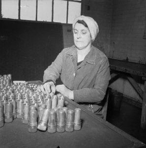 International Women's Day - An Aycliffe Angel at work, filling shells